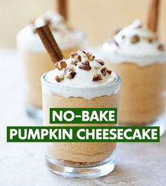 You'll fall in love with this spoonable snack from Chef Devin Alexander! Make this No-Bake Pumpkin Cheesecake with Truvia Nectar topped with candied pecans featuring Truvia Baking Blend.