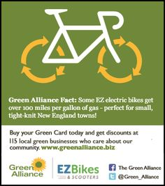 Green Alliance business partner EZ Bikes