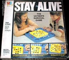 The Stay Alive Game from Milton Bradley is billed as the ultimate survival game. Marbles are placed on the board and players then start moving levers to make the balls drop through the grid. The one with the last marble on the grid wins. Cool game.