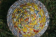 African chip wrapper basket bag