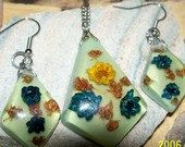 Garden of Flowers Necklace and Earrings Set by bbcreations on Etsy, $17.00