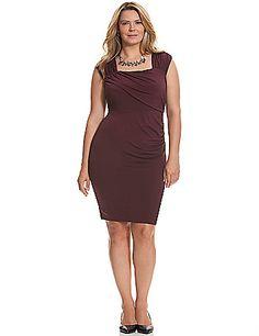 f1d9c36d0fa Lane Bryant. Plus Size Control Tech slimming ruched dress ...