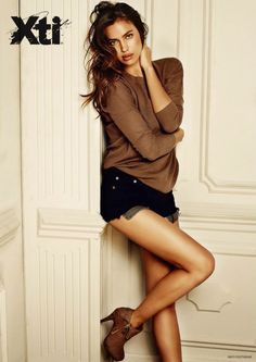 Irina Shayk Models Boot Styles in XTI Shoes Fall 2014 Ads