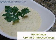 Easy Cream of Mushroom Soup Recipe you can make yourself with basic ingredients!