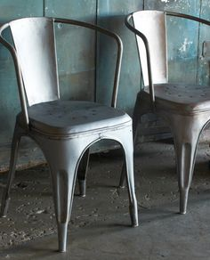 Vintage French Metal Chair, BryanKeith