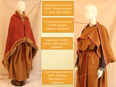 Migration Period female costume, Norway. Migration Period Female Costume, silver wrist clasps. Museum quality reproduction of Iron Age costume, female. Textile, metal and leather by Ø. Engedal. www.arkeoreplika.no, www.bronsereplika.no