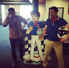 They must realize I'm so amazing on the racetrack they even have a cartoon character of me! Jonathan Scott, A Cartoon, Cartoon Characters, Great Scott, Scott Brothers, Property Brothers, Best Day Ever, Movie Tv, Champion