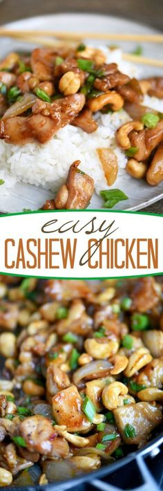 Love quick and easy dinner recipes? This one is for you! This Easy Cashew Chicken takes less than 30 minutes to make and is way better than takeout! Add it to your menu this week!