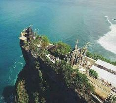 Uluwatu Temple is one of Balinese Hindu Temples located right on the petrifying hill with the crevasse exist in the right and left side. Uluwatu Temple is one of Sad Khayangan (6 biggest temple in Bali) owns magnificent view of the Indian Ocean and sunset as a backdrop.