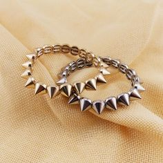 SUPIN Fashion Punk Casual/sporty Gold Sliver Metal Cone Bracelet For Women Classic Bracelets & Bangles Jewelry Accessories Gifts