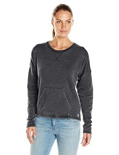 Women's Sweatshirts - Soffe Womens Throwback Crop Shirt *** More info could be found at the image url.