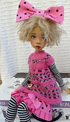 SPRING PINK OUTFIT FOR LAYLA MSD KAYE WIGGS DOLLSTOWN DT7 BY BARBARA