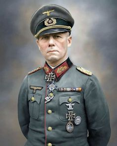 November 1943 - On this day in World War Two history, Field Marshal Kesselring is appointed… German Soldiers Ww2, German Army, Erwin Rommel, Field Marshal, Afrika Korps, German Uniforms, Military Figures, War Photography, Military Jets