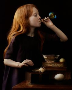 I would spend hours blowing bubbles -- imaging what it would be like to be inside one and to fly away.
