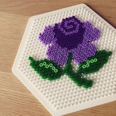 Flower hama beads by rie_juul