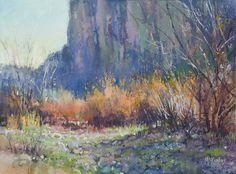 Canyon's Edge by Richard McKinley Pastel ~ 9 x 12