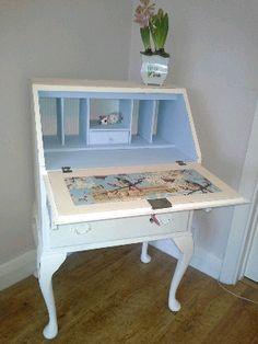Vintage painted shabby chic bureau