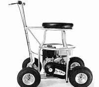 Bar stool go cart. I must build one of these.