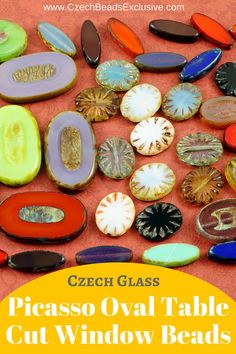 Czech Glass Picasso Oval Table Cut Window Beads  Different Colors, Shapes & Sizes! - Buy now with discount!  Hurry up - sold out very fast! www.CzechBeadsExclusive.com/+table+cut+oval SAVE them! ⚡️Lowest price from manufacturer! Get free gift! 1 shipping costs - unlimited order quantity!  Worldwide super fast ✈️ shipping with tracking number! Get high wholesale discounts! Sold with  at http://www.CzechBeadsExclusive.com table cut beads | picasso beads | picasso beads jewelry | picasso beads…