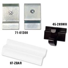 Metal Slatwall Adaptors (Set of 4) Turns any display into a slatwall display (Advantage Fixtures/Retail Group)