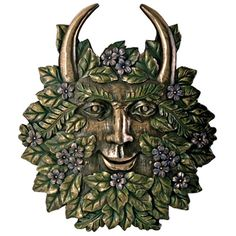 large green man wal plaque