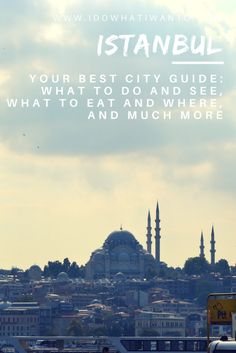 #Istanbul city guide everything you need to know to plan the perfect trip to this magical city. Travelling in Turkey. Wanderlust in Asia