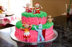 """""""In the Night Garden"""" Cake for my daughters 2nd Birthday."""