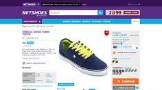 [Netshoes] Tênis DC Shoes Tonik Youth - Masculino - 7897380850157 - de R$ 145,84 por R$ 129,90 (10% de desconto)