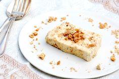 Semifreddo al torrone e amaretti (semifreddo with nougat and amaretti)