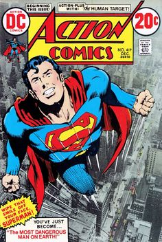 process for Action Comics, Vol. 1 # 419, by Neal Adams.