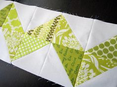 limey zigzags by StitchedInColor, via Flickr