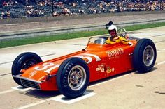 1961 - Bobby Marshman's ( Hoover Motor Express Special - was a 1959 Epperly / Offenhauser – Qualified: (Speed: mph) Finished: on the Lead Lap Indy Car Racing, Indy Cars, 500 Cars, Indianapolis Motor Speedway, Classic Race Cars, Old Race Cars, Sprint Cars, Vintage Race Car, Ford Gt