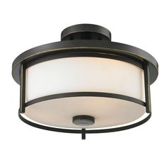 Filament Design Lacy 2-Light Olde Bronze Semi-Flush Mount Light