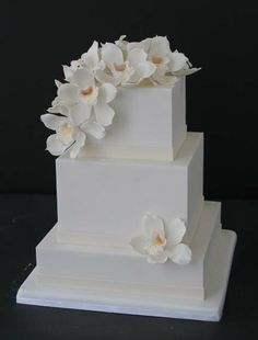 cakes with orchids | Mark Joseph Cakes
