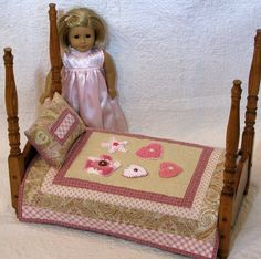 American Girl Doll Quilt Blanket Mini Quilt by DollPatchworks, $36.00