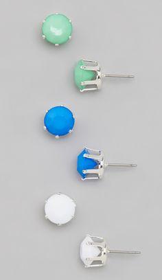 097b05c84 Tropical Stud Earring Set Jeweled Shoes, Earring Set, Jewelery, Jewelry  Box, Stud