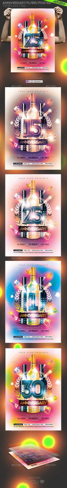 Anniversary Party Flyer Template  Party Flyer Flyer Template And