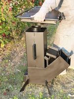 Bildergebnis für rocket stove and grill Rocket Heater, Rocket Stoves, Barbecue Grill, Grilling, Outdoor Kocher, Rocket Stove Design, Stove Heater, Outdoor Stove, Built In Grill