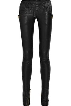 Some awesome, edgy leather skinny pants!