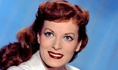 Maureen O'Hara in 1955. Actress Maureen O'Hara was born Maureen FitzSimons, the second of six children, in a suburb of Dublin. She became a Hollywood star who played many feisty heroines and made many films with John Ford. In 2005 she moved back to Ireland but then came back to the US in 2012 to be near family. She died 25 October 2015 in the U.S., age 95. Photograph: Everett Collection/Rex Feature