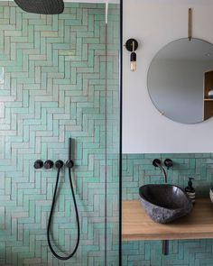 Classic but unique Dutch architecture styles exemplified in stunning Frans Halsstraat building bohemianbathroom - Bathroom Flooring Family Bathroom, Modern Bathroom, Small Bathroom, Moroccan Bathroom, Bathroom Green, Bohemian Bathroom, Bathroom Vintage, Minimal Bathroom, Moroccan Tiles