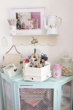 Craft room ideas and craft storage solutions are probably what I'm best known for through this website, so of course, I thought I'd share some of the best Craft Room ideas we've ever featured! #craftrooms #craftroomideas #sewingroom #sewingstudio #craftstorage #storagesolutions Space Crafts, Home Crafts, Fun Crafts, Diy Home Decor, Craft Tables With Storage, Craft Storage Cabinets, Craft Desk, Craft Rooms, Craft Storage Solutions