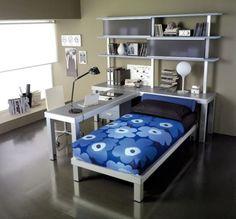 จัดสรรค์ห้องนอนและห้องทำงานให้เป็นห้องเดียวกัน - ตกแต่งบ้าน - ไอเดีย - ของแต่งบ้าน - ตกแต่ง - เฟอร์นิเจอร์ - การออกแบบ - ห้องนอน - ห้องทำงาน