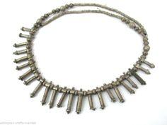 "Vintage Ethiopian Tribal Beaded Necklace (21.5"")"