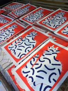 Cat prints!They will be available at De Invasie (Antwerp)