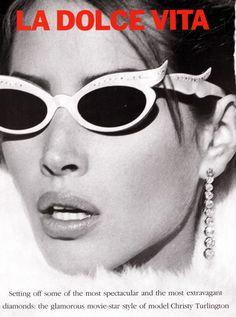 La Dolce Vita I US Vogue I December 1989 I Model: Christy Turlington I Photographer: Steven Meisel I Editor: Carlyne Cerf de Dudzeele.