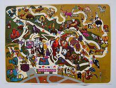 1960s San Diego Zoo Map