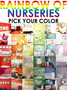 Nursery Color Ideas - whether you want soft and serene, bright and cheery, cool and modern, color sets the mood!