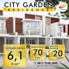 City Garden Residence! DP Mulai 70 Jutaan! Cicilan Mulai 6,1 Jutaan!  Unit Terbatas! Mau DISKON? Hub Segera Telp/WA 0812 3238 5000 atau www.ganproperti.com  #house #rumahnyaman #properti #perumahan #property #realestatelife #realestate #rumah #rumahminimalis #rumahku #rumahbandung #perumahanbandung #25lokasi #landed #housing #ganproperti #lokasistrategis #rumahbaru #rumahbaruku #houseoftheday #home #forsale #homestyle #houzz #terbaru