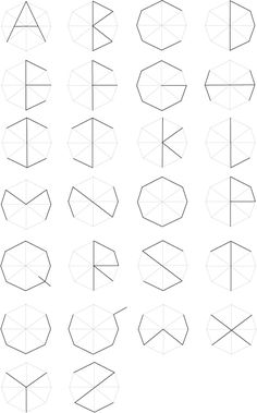 Typeface hexagon by Vorakit Nontiboot, via Behance